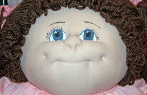 face of cabbage patch doll