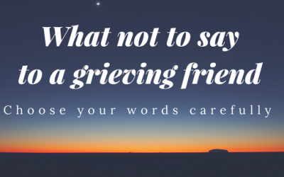 When Comforting a Grieving Friend, Choose Your Words Wisely
