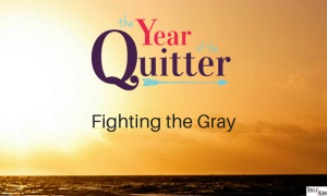 text graphic year of the quitter